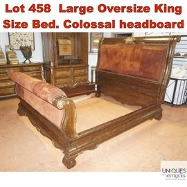 Lot 458 Large Oversize King Size Bed. Colossal headboard