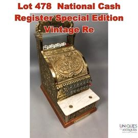 Lot 478 National Cash Register Special Edition Vintage Re