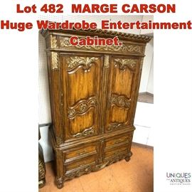 Lot 482 MARGE CARSON Huge Wardrobe Entertainment Cabinet.