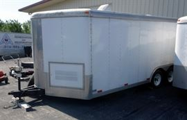 "2002 Doolittle Enclosed Cargo Trailer With Ramp, Storage, Electric Capable, Side Door VIN # 1DGCS18222M045624, Approx 7'8"" x 23'6"""