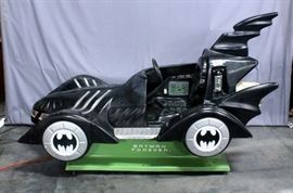 "1995 Kiddie's Batman Forever Batmobile Coin Operated Kiddie Ride, Model Batmobile, SN# 10403, 85""L x 34""W x 49""H, Works"