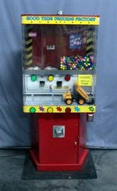 "Good Time Vending Factory Coin Operated Electronic Dump Truck Candy Vending Machine, Dump Truck Dumps Candy, 29.5""W x 68""H x 15""D, Works"