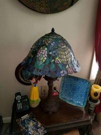 Many tiffany lamps
