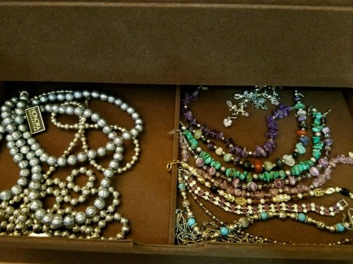Pearls gemstone sterling silver and gold hundreds of pieces from HSN QVC and evine