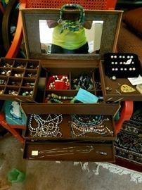 Many many beautiful jewelry boxes