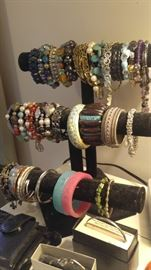At least a hundred bracelets QVC HSN evine sterling silver gemstones turquoise and more