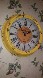 Old Town yellow clock in the kitchen