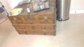 Antique steamer trunk absolutely beautiful