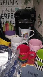 Designer coffee cups and coffee Keurig and more