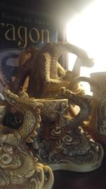 Medieval collectibles fantasy Renaissance dragon collection bronze statues star wars