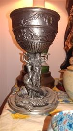 Solid pewter gem Warriors collectible goblet Warrior fantasy
