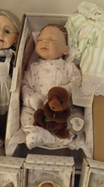 Franklin Mint gorgeous real collector baby doll in box