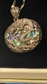 Sterling dragon pendant