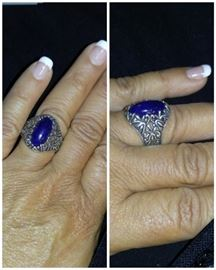 Blue lapis & sterling ring