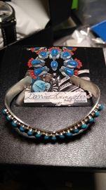 David Livingston Sleeping Beauty turquoise sterling silver bracelet