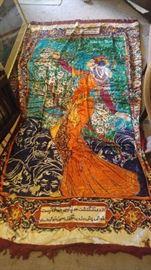 Fabulous antique Persian wall hanging carpet