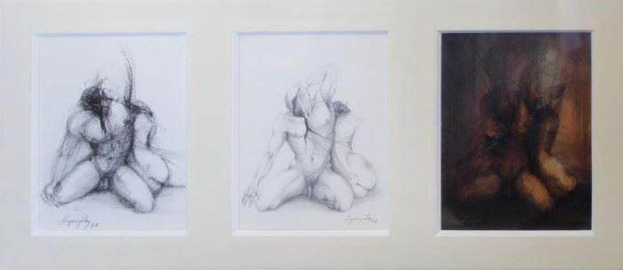 AGORZULEZ Mixed Media Drawing Nude