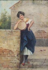 AGRESTI Rodolfo Oil on Canvas Woman