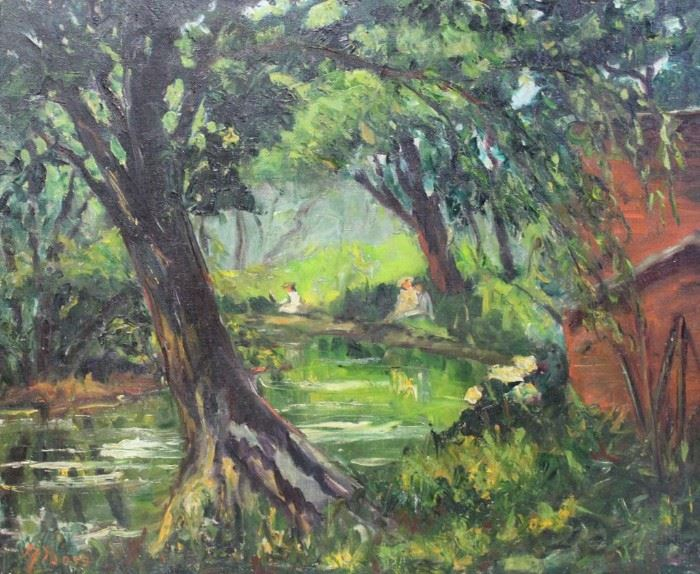 ALBERS Margaretha Oil on Canvas Hackensack
