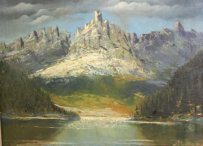 ALLAN DF Oil On Canvas Mountainous
