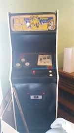 Ms Pac Man with original manual. Rare
