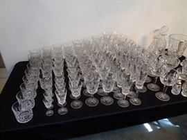 All Waterford glasses!!!