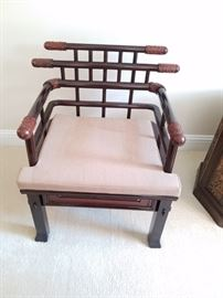 Asian wood chairs has great architectural modern look