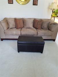 Microfiber sofa barely used
