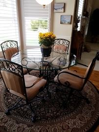 Kitchen table and chairs with glass top