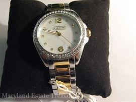 Coach Wristwatch in original package with tag