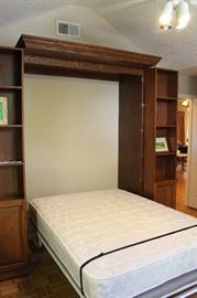 Murphy Bed Opened, Mattress Is Full Size