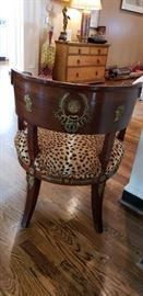 French 19th Century Empire Mahogany Ram Heads Chair