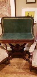 Antique English Regency Mahogany Game Table