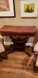 Antique English Regency Mahogany Game Table