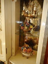 Smoky Glass. Glass Shelves. Capodimonte