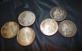 90% Silver Silver Peace & Morgan Dollar Coins