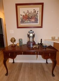 Mahogany banded writing desk