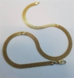 18 Gold over sterling chain