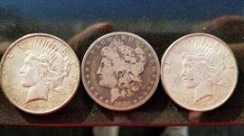 1882 1922 1928 Silver Dollars