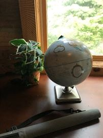 Globe and Desk
