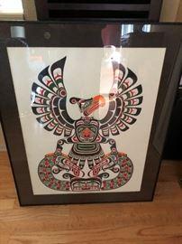 Northwest coast, Original art Thunderbird & Sisuitl by Eugene Isaac 1989
