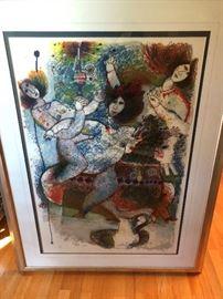 """""""La Luminere De Prophete"""" Color Lithograph 1983 SIZE: LITH 28"""" x Frame 42"""" 41"""" x 55"""""""