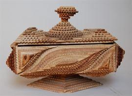 Tramp art box