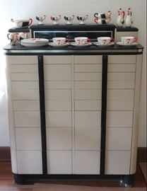 Deco dental cabinet and Coq Rouge breakfast set