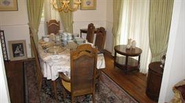 Full Dining room set, Karastan rug.
