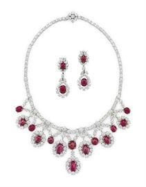 LOT 901 Ruby Necklace Set