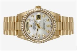LOT 880 Rolex Presidential Watch.