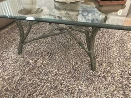 Sulputred metal coffee table, matching end tables