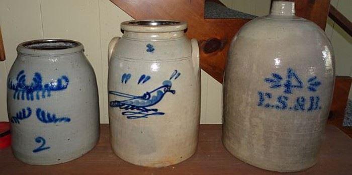Blue Decorated Stoneware