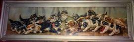 """Tug of War"" Yard Long Original Framed Print"